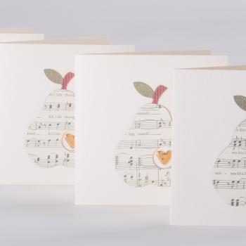 Musical pears gift card
